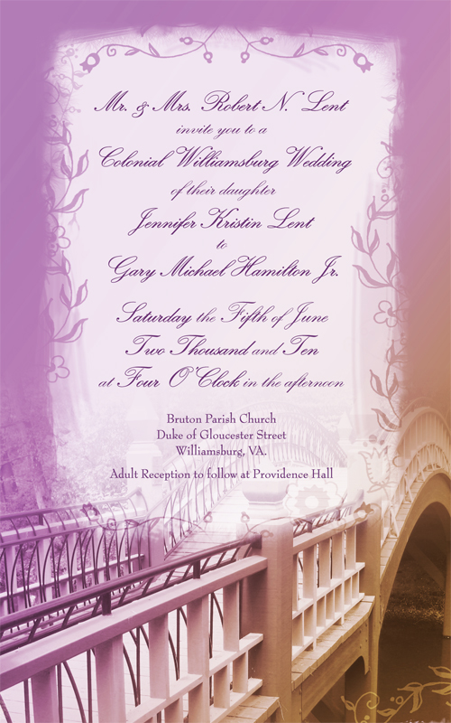 Colonial Wedding Invitation