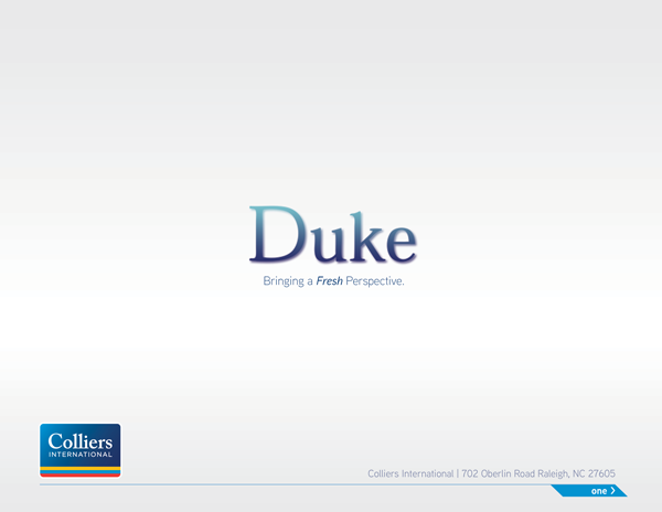 Duke Powerpoint Presentation Page 1