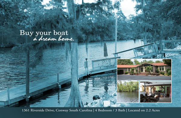Buy Your Boat a Dream Home Postcard Design