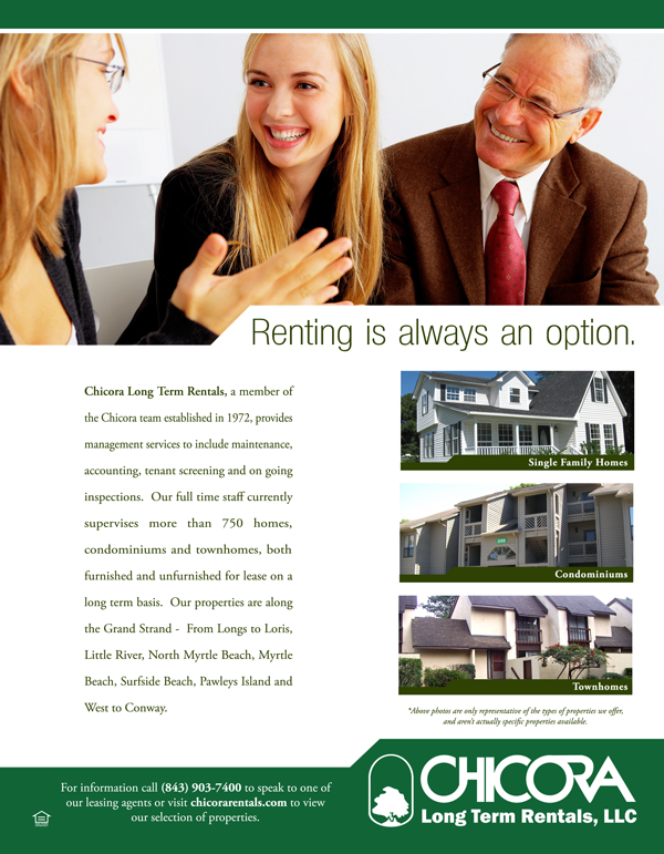 Long Term Rentals Flyer Design