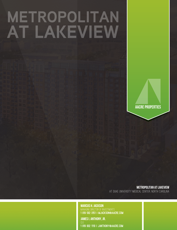 Metropolitan at Lakeview Brochure Design